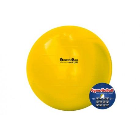 Bola suíça para exercícios 45 cm amarela Gynastic Ball
