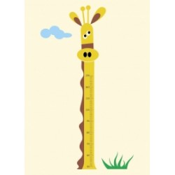 Régua de crescimento Girafa até 1,30 mt para crianças com necessidades especiais
