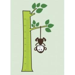 Régua para Crescimento Macaco até 1,30 para crianças com necessidades especiais