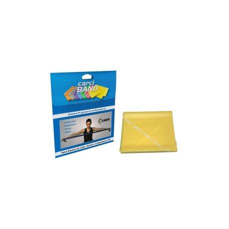 Carci Band - Faixa elástica para exercícios amarela fraca para Pcd
