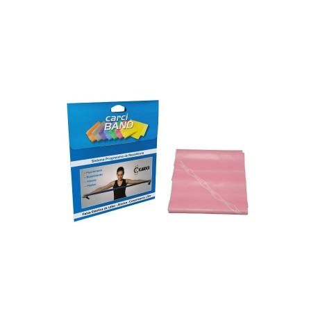 Carci Band - Faixa elástica para exercícios rosa leve para Pcd