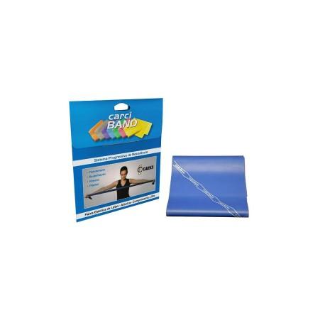 Carci Band - Faixa elástica para exercícios azul média forte para Pcd