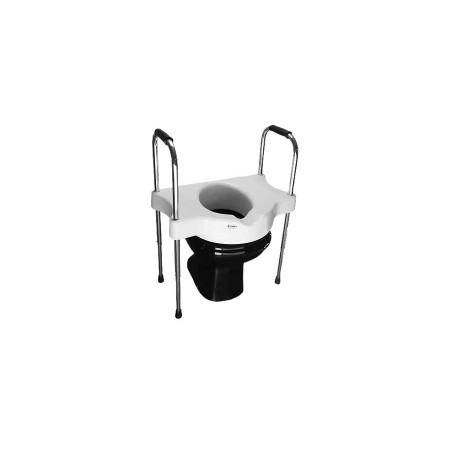 Elevador de assento sanitário com alças reguláveis