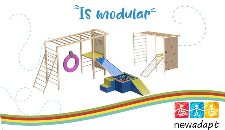 É modular, um novo jeito de brincar!